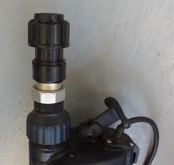 Adapter Multiflow für PE Rohr 25