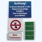 Kennzeichnungsset für Regenwasseranlagen